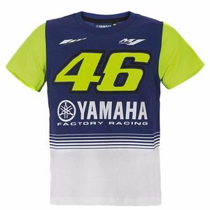 TEE SHIRT YAMAHA VR46 JUNIOR RACING BLUE