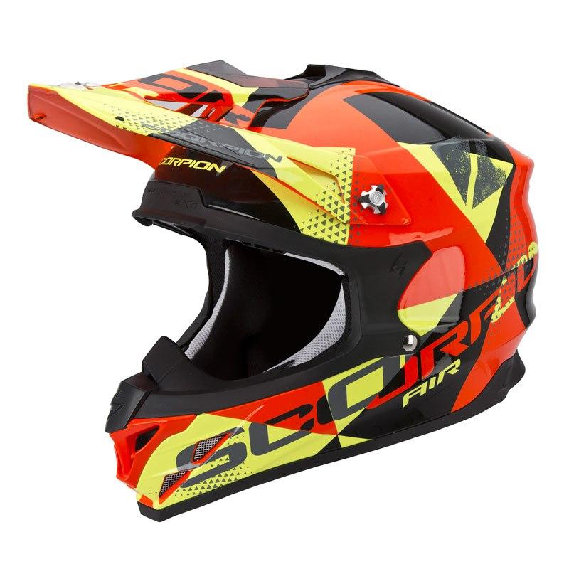 Casco De Motocross Scorpion Exo Vx 15 Evo Air Akra Negro